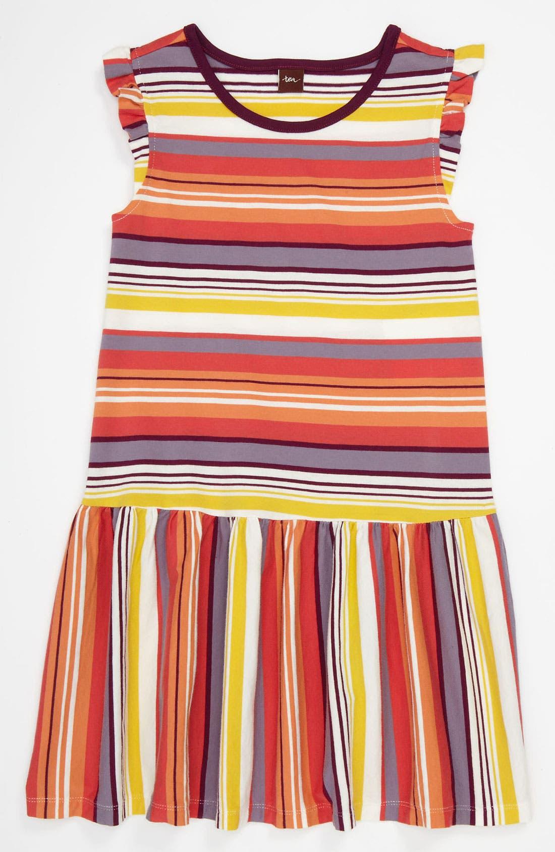 Main Image - Tea Collection 'Sunset Stripe' Dress (Little Girls & Big Girls)