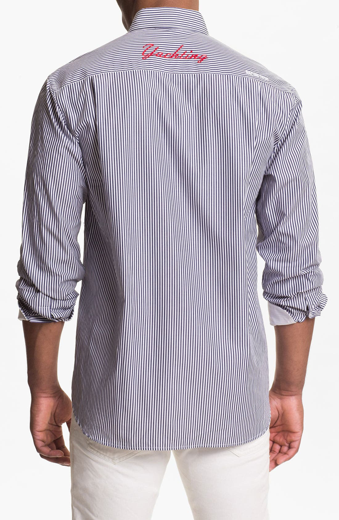 Alternate Image 2  - Paul & Shark Pinstripe Sport Shirt