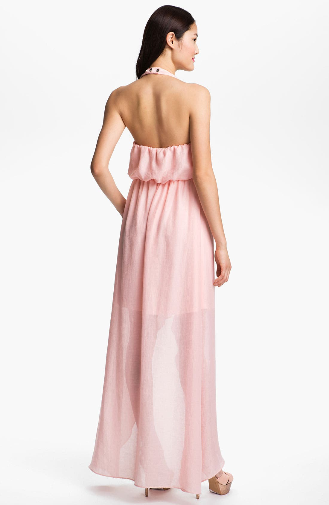 Alternate Image 2  - Jessica Simpson Blouson Halter Maxi Dress