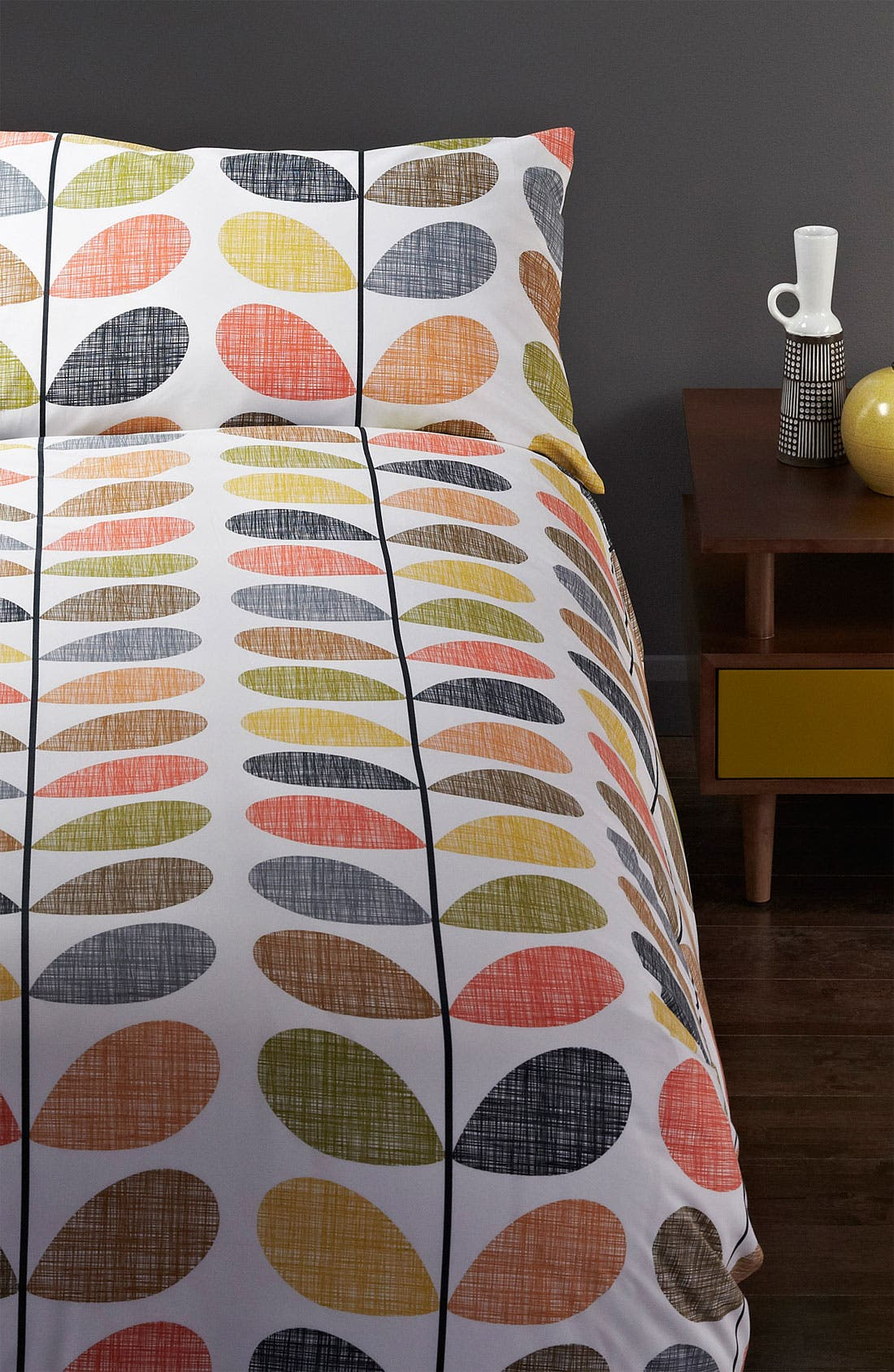 Alternate Image 1 Selected - Orla Kiely 'Scribble Stem' Duvet Cover & Shams