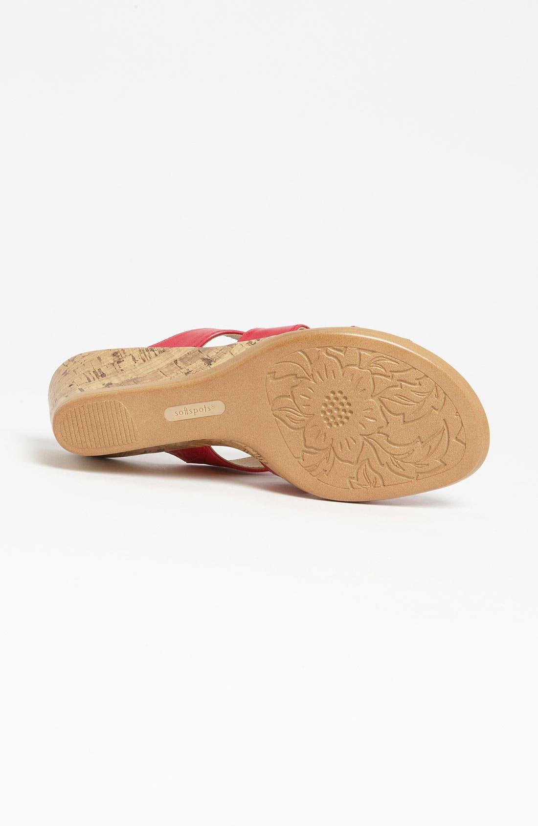 Alternate Image 4  - Softspots 'Lilianna' Wedge Sandal