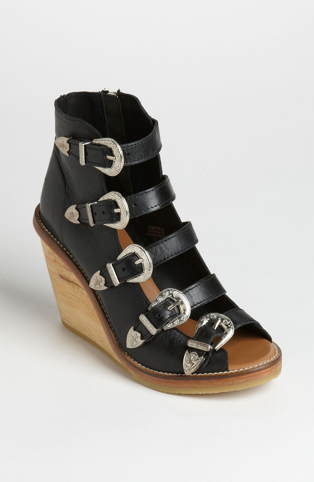 Main Image - Topshop Western Buckle Wedge