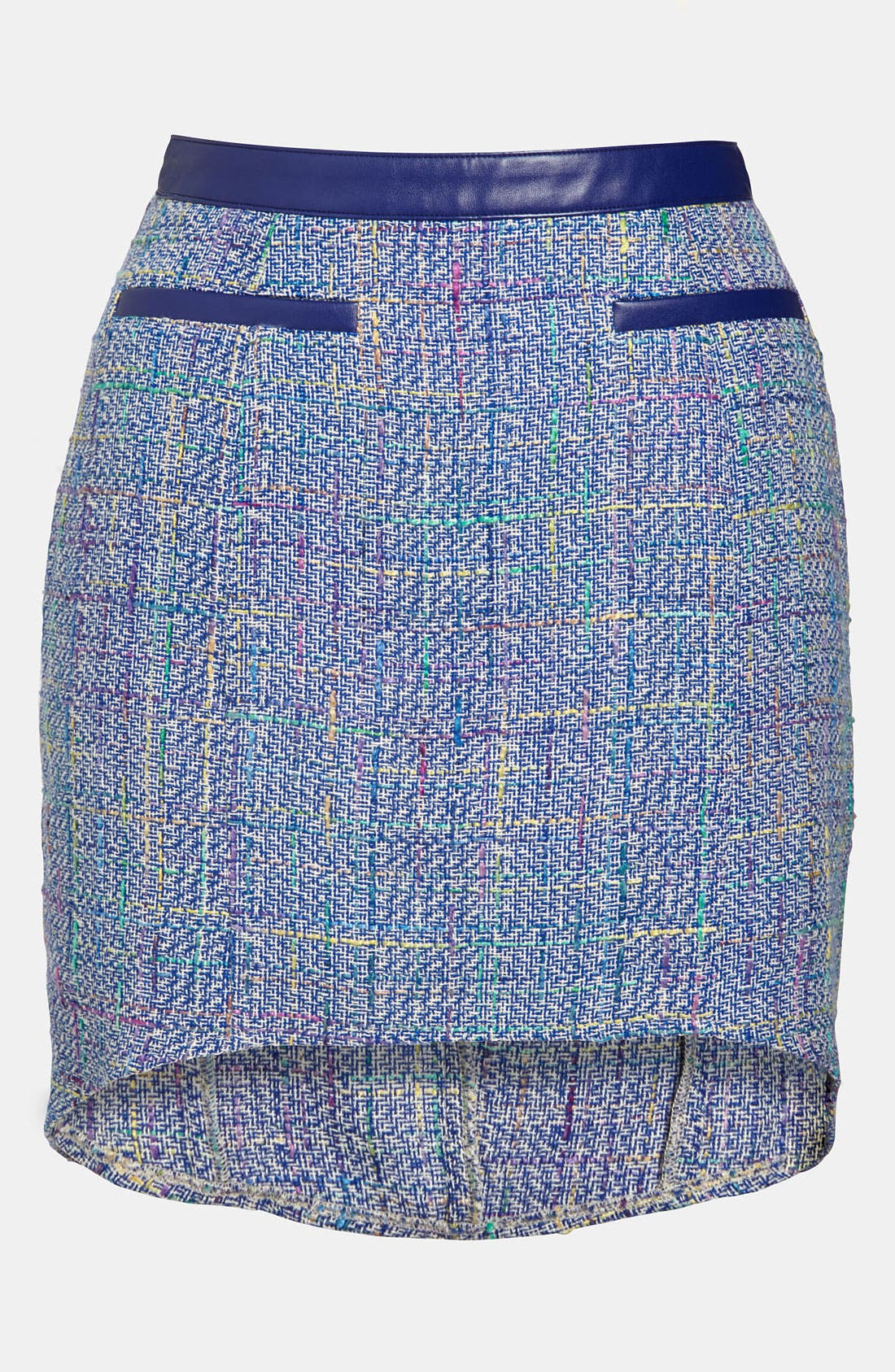 Main Image - ASTR High/Low Tweed Skirt