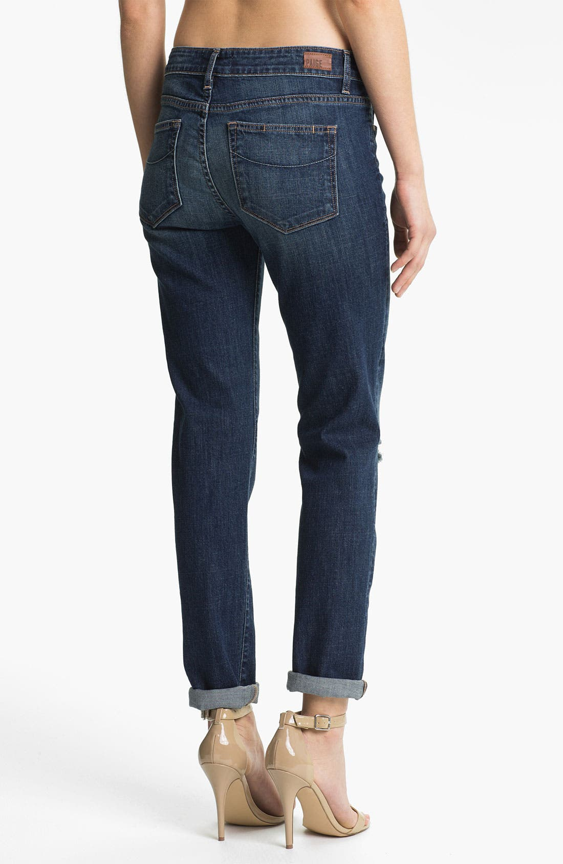 Alternate Image 2  - Paige Denim 'Jimmy Jimmy' Distressed Boyfriend Jeans (Tawni Destruction)