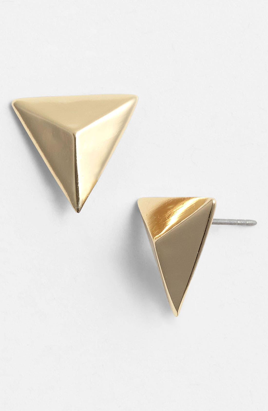 Main Image - Cara Pyramid Stud Earrings