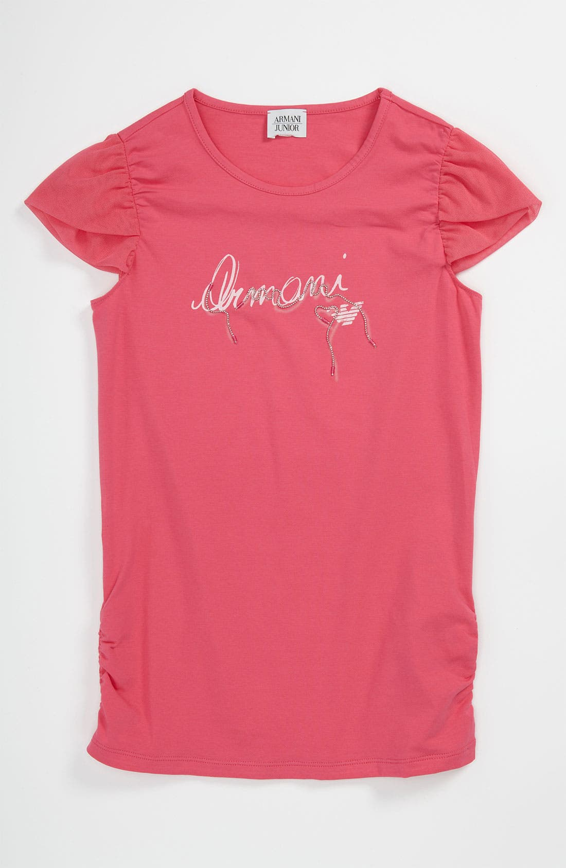 Alternate Image 1 Selected - Armani Junior Logo Tee (Big Girls)