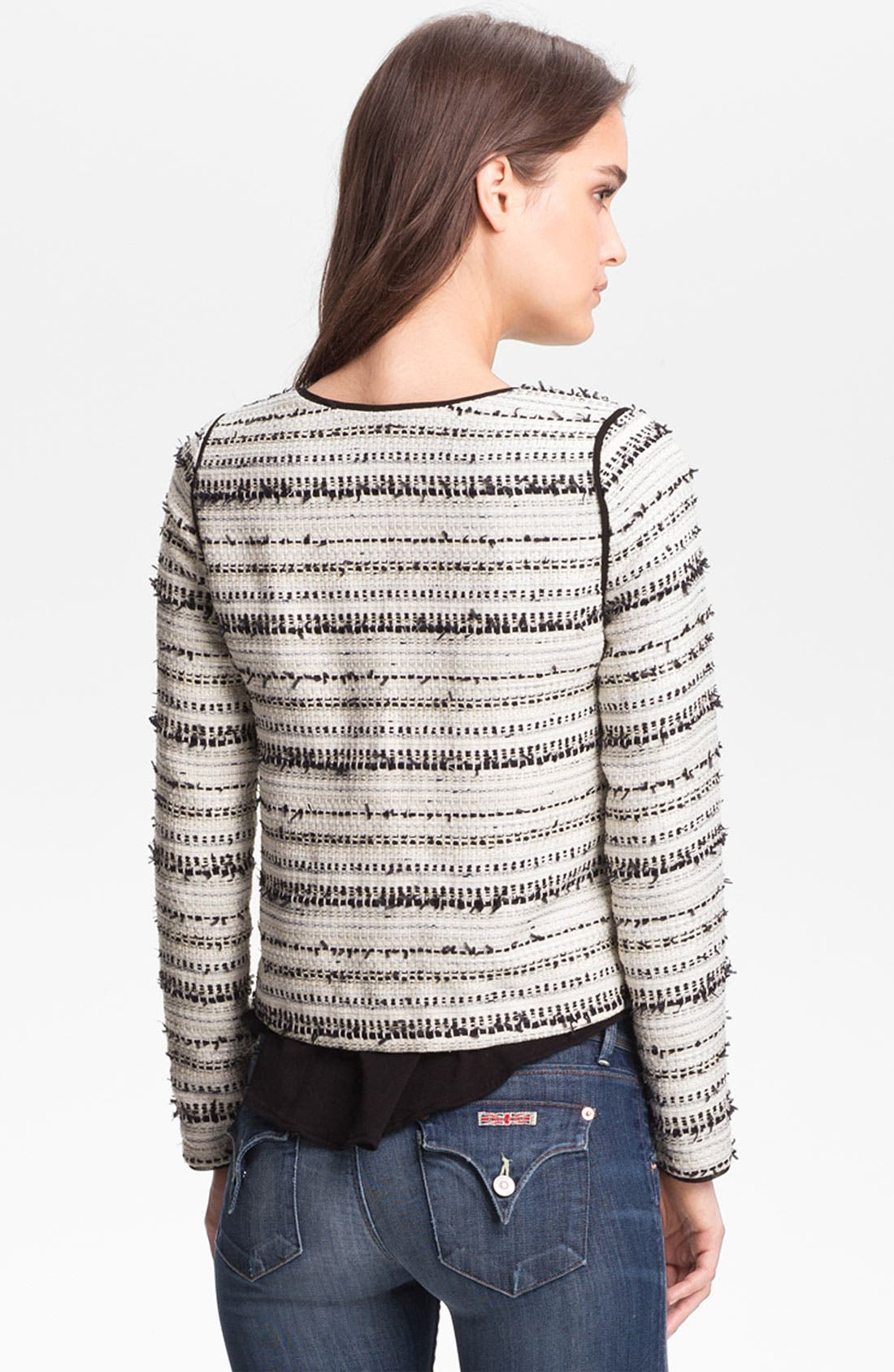 Alternate Image 2  - Willow & Clay Metallic Thread Tweed Jacket