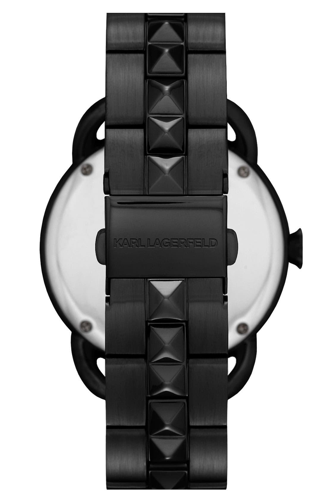 Alternate Image 2  - KARL LAGERFELD 'Pop' Bracelet Watch, 40mm