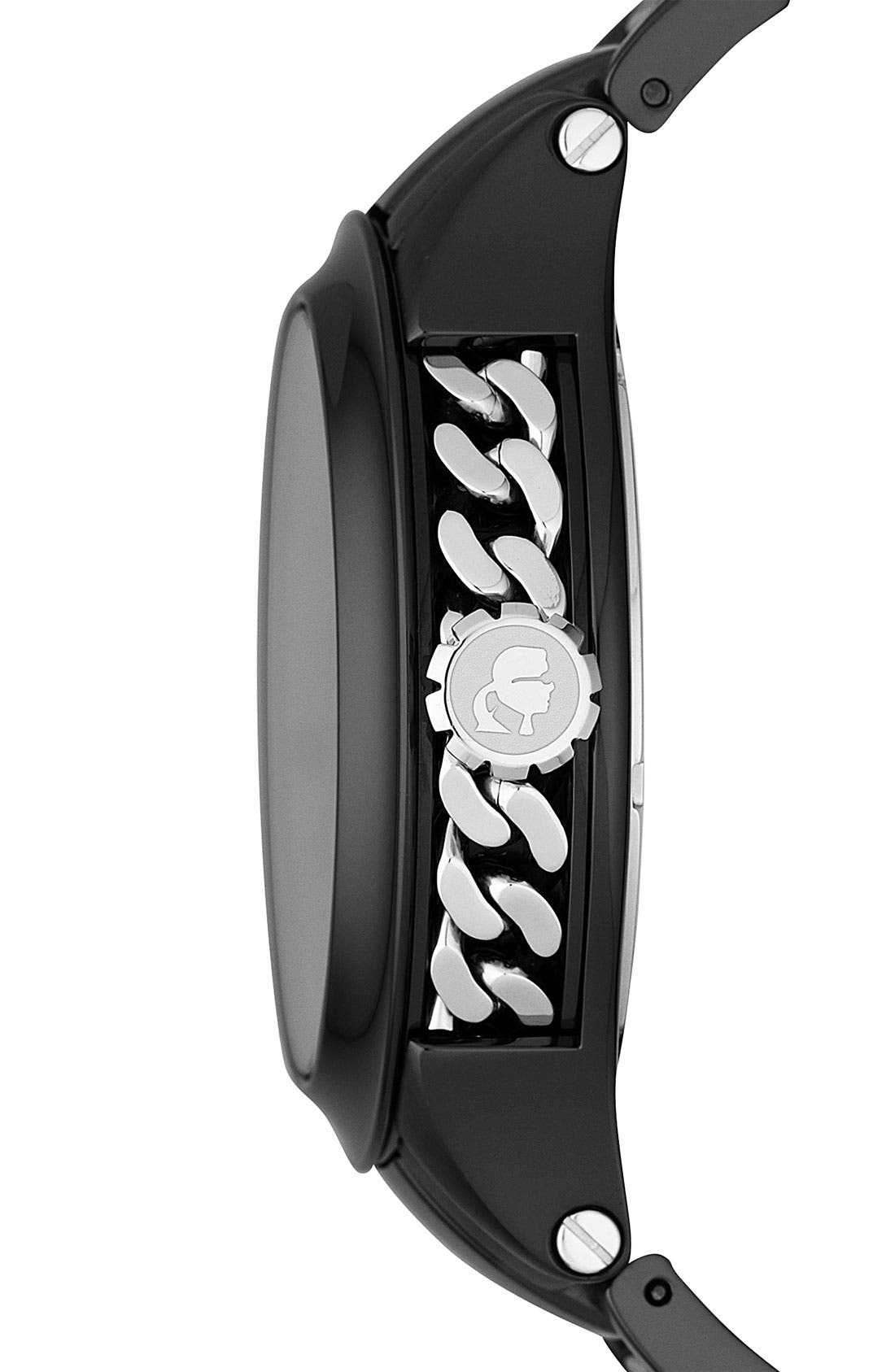 Alternate Image 2  - KARL LAGERFELD Chain Detail Bracelet Watch, 44mm