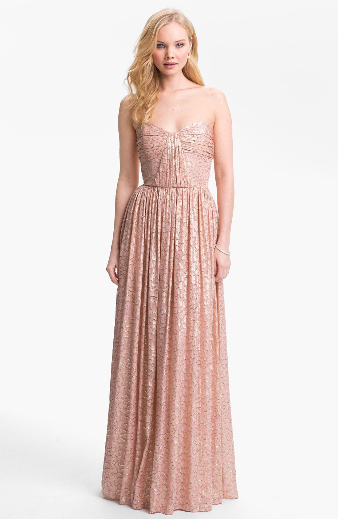 Alternate Image 1 Selected - ERIN erin fetherston Metallic Silk Gown