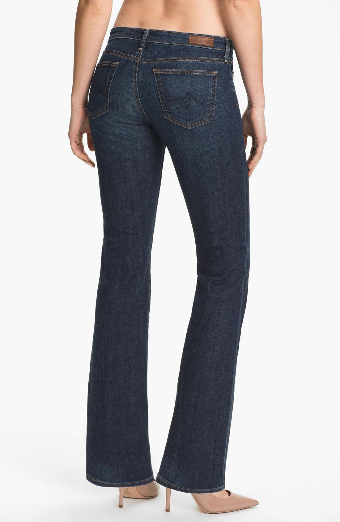 Alternate Image 2  - AG Jeans 'Angelina' Bootcut Jeans (Blue Brush) (Petite)
