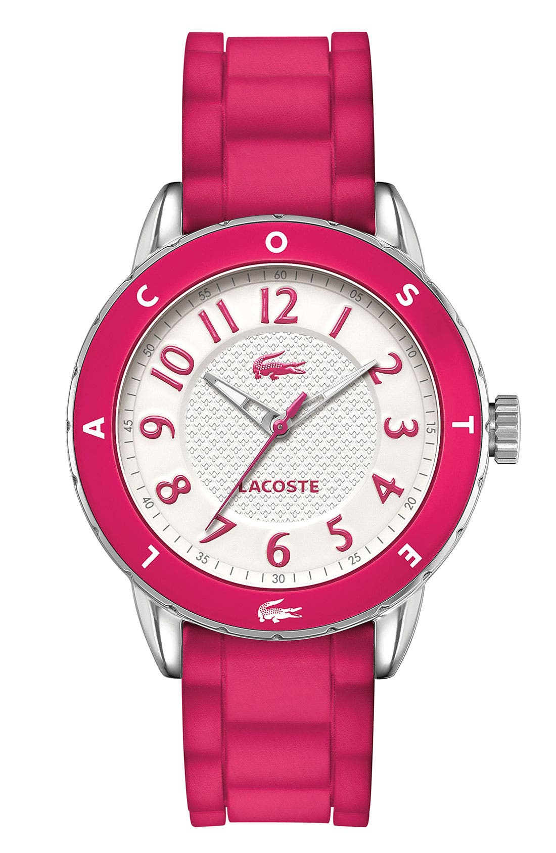 Main Image - Lacoste 'Rio' Silicone Strap Watch, 40mm