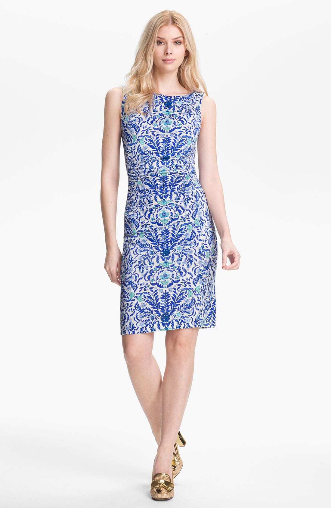 Alternate Image 1 Selected - Tory Burch 'Viviane' Silk Sheath Dress