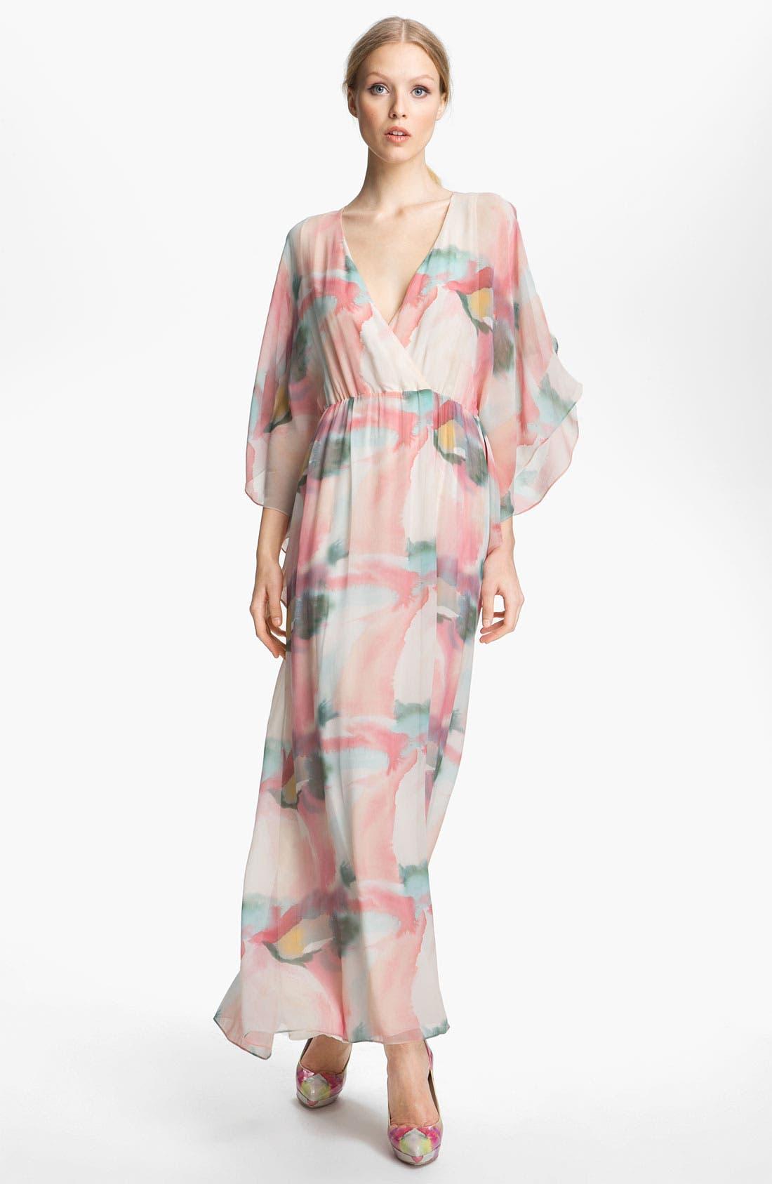 Alternate Image 1 Selected - Alice + Olivia Print Silk Maxi Dress