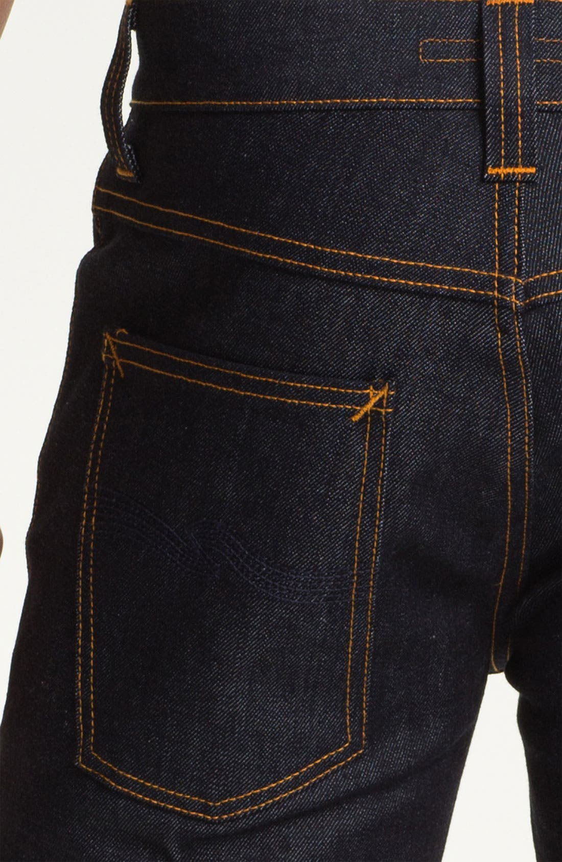 Alternate Image 4  - Nudie 'Grim Tim' Slim Fit Jeans (Organic Dry Navy)
