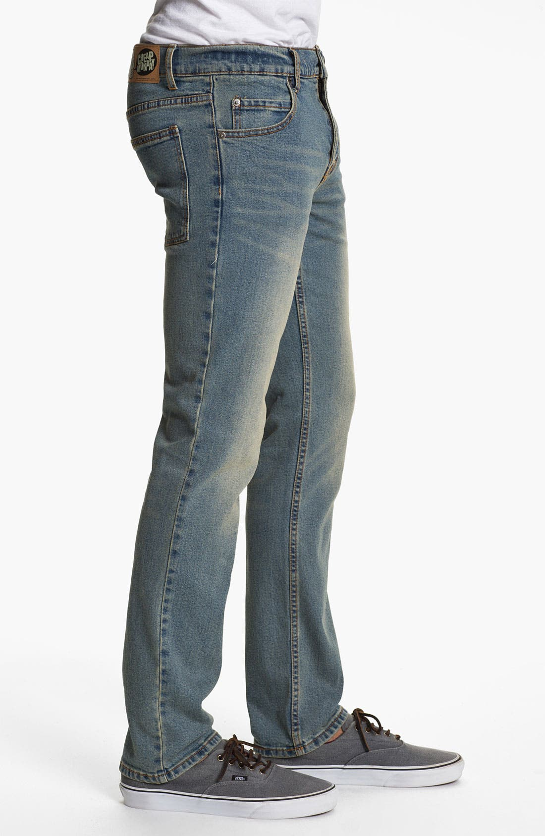 Alternate Image 3  - Cheap Monday Tight Slim Straight Leg Jeans (Dirt Blue)