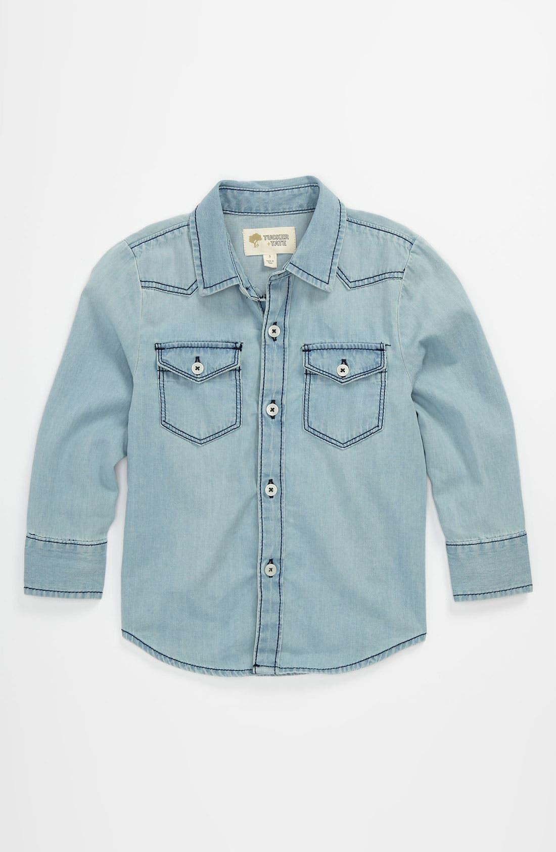 Alternate Image 1 Selected - Tucker + Tate 'Benson' Denim Shirt (Toddler)