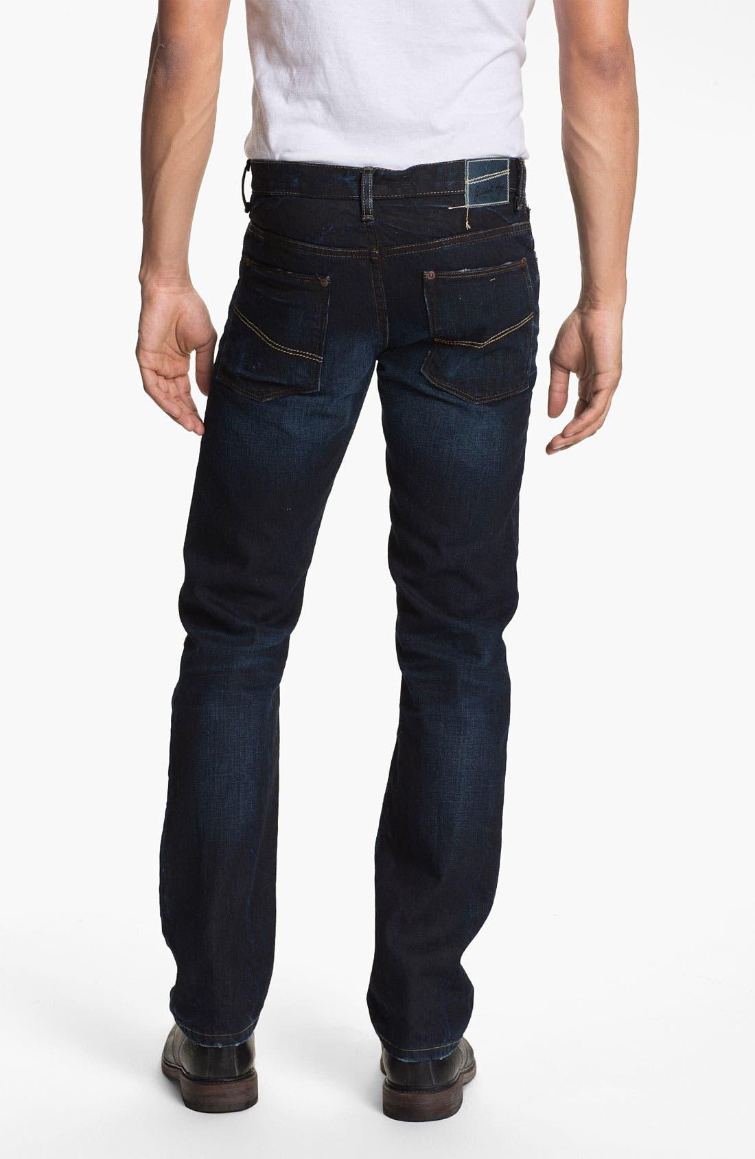 Main Image - Gilded Age 'Gotham' Slim Straight Leg Jeans (Dark Wash)