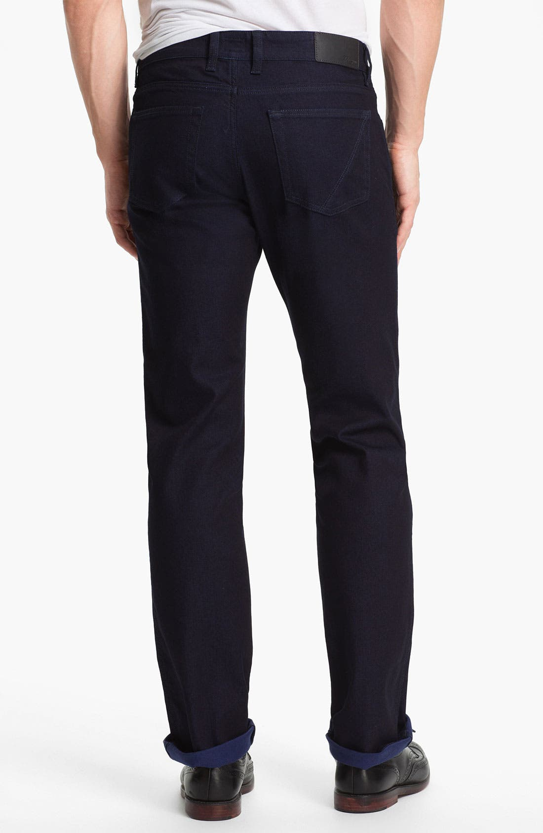 Alternate Image 2  - Z Zegna Straight Leg Jeans (Navy)