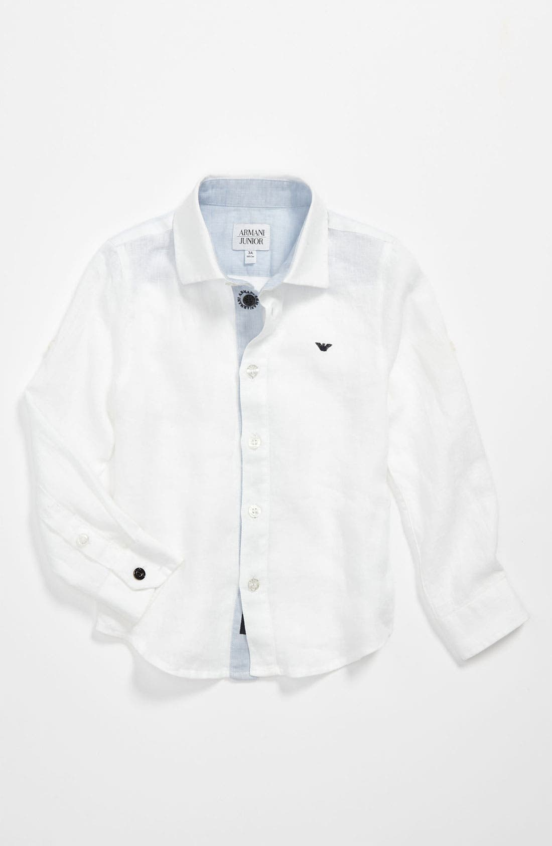 Main Image - Armani Junior Chambray Shirt (Little Boys)