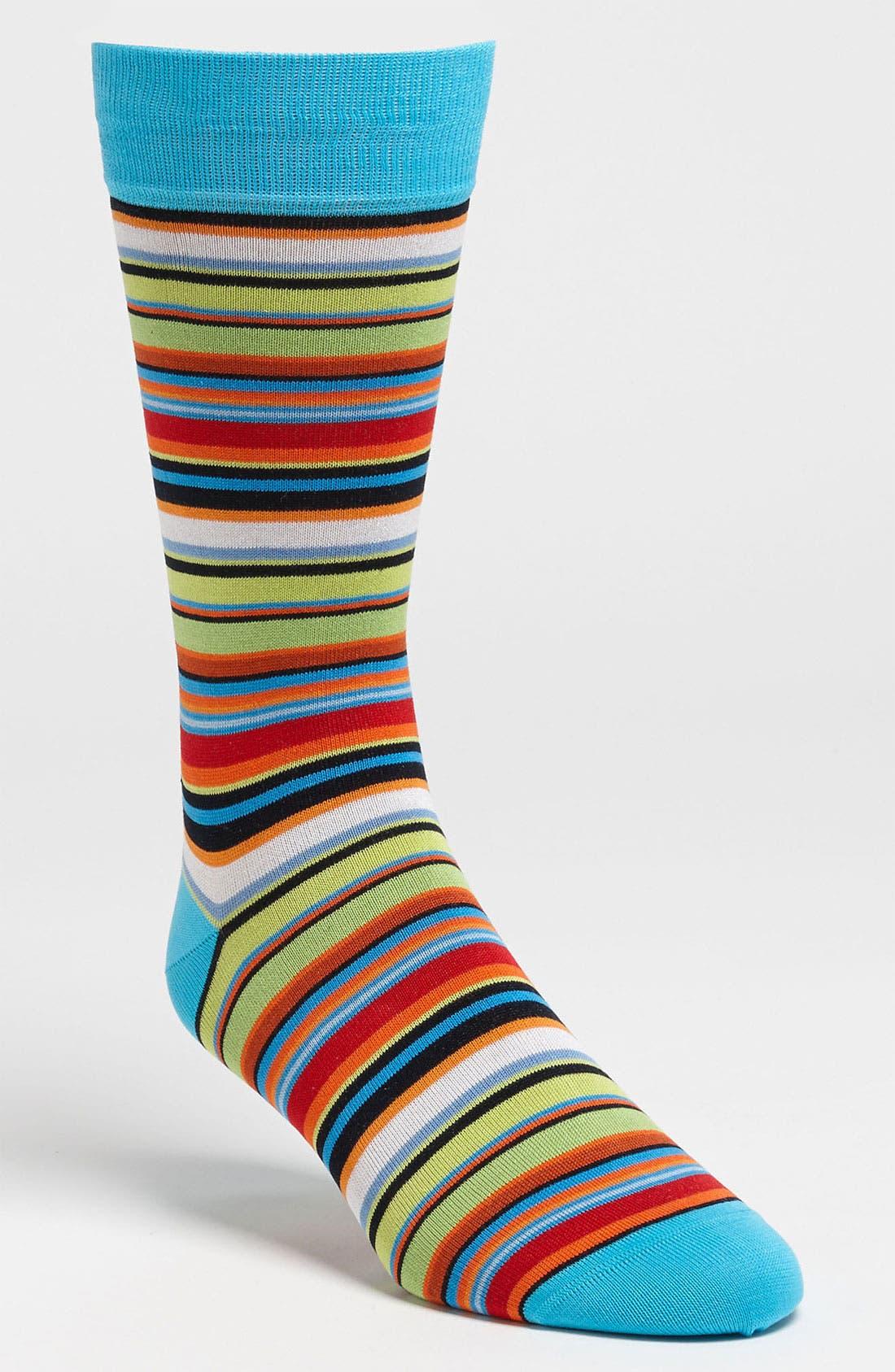 Alternate Image 1 Selected - Bugatchi Uomo Stripe Socks (3 for $49.50)
