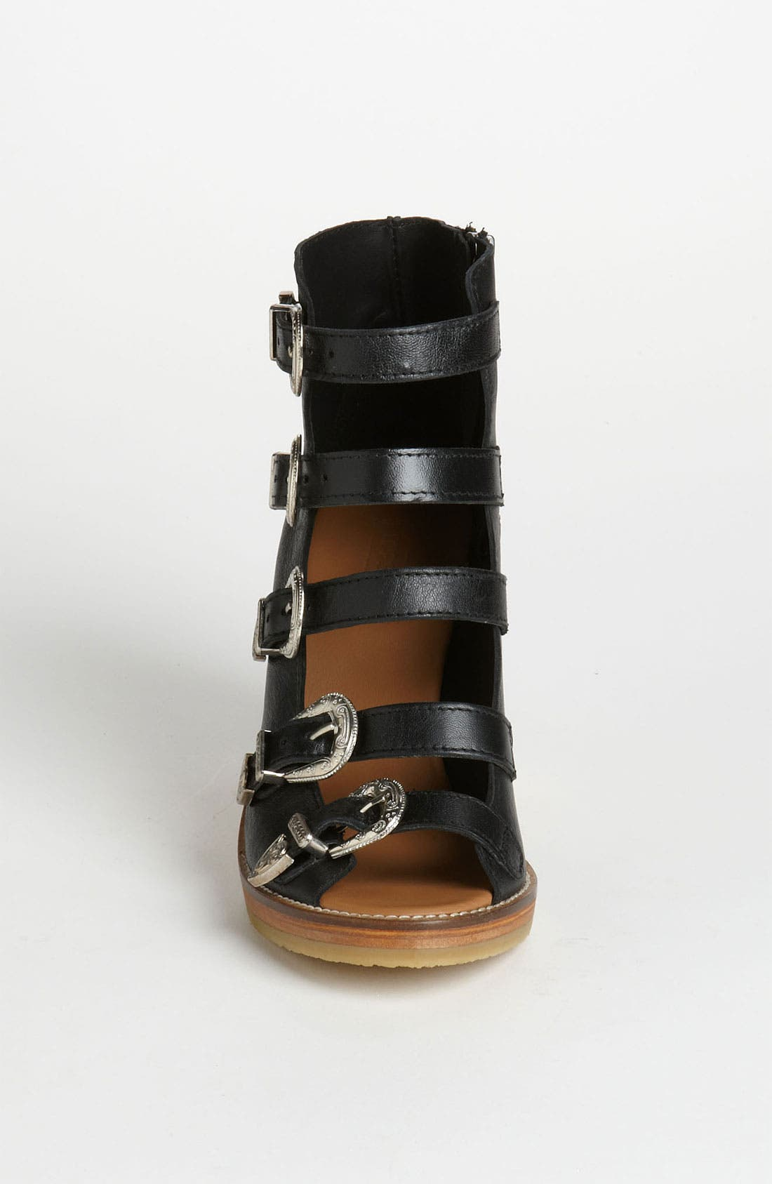 Alternate Image 3  - Topshop Western Buckle Wedge
