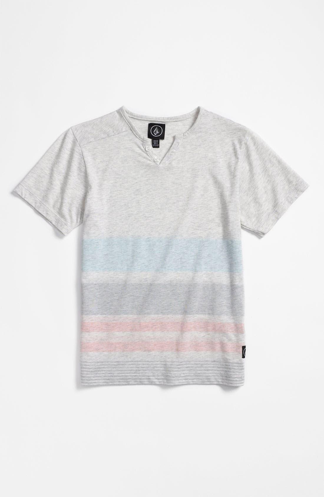 Alternate Image 1 Selected - Volcom 'Ferrell' V-Neck Henley T-Shirt (Big Boys)