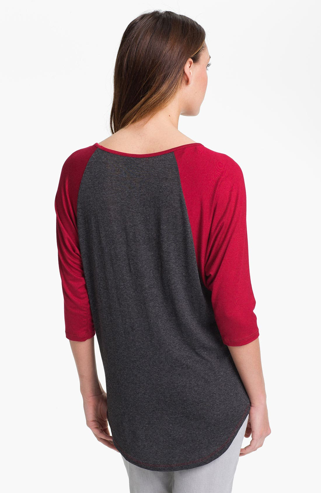 Alternate Image 2  - Bobeau Screenprint Raglan Sleeve Tee