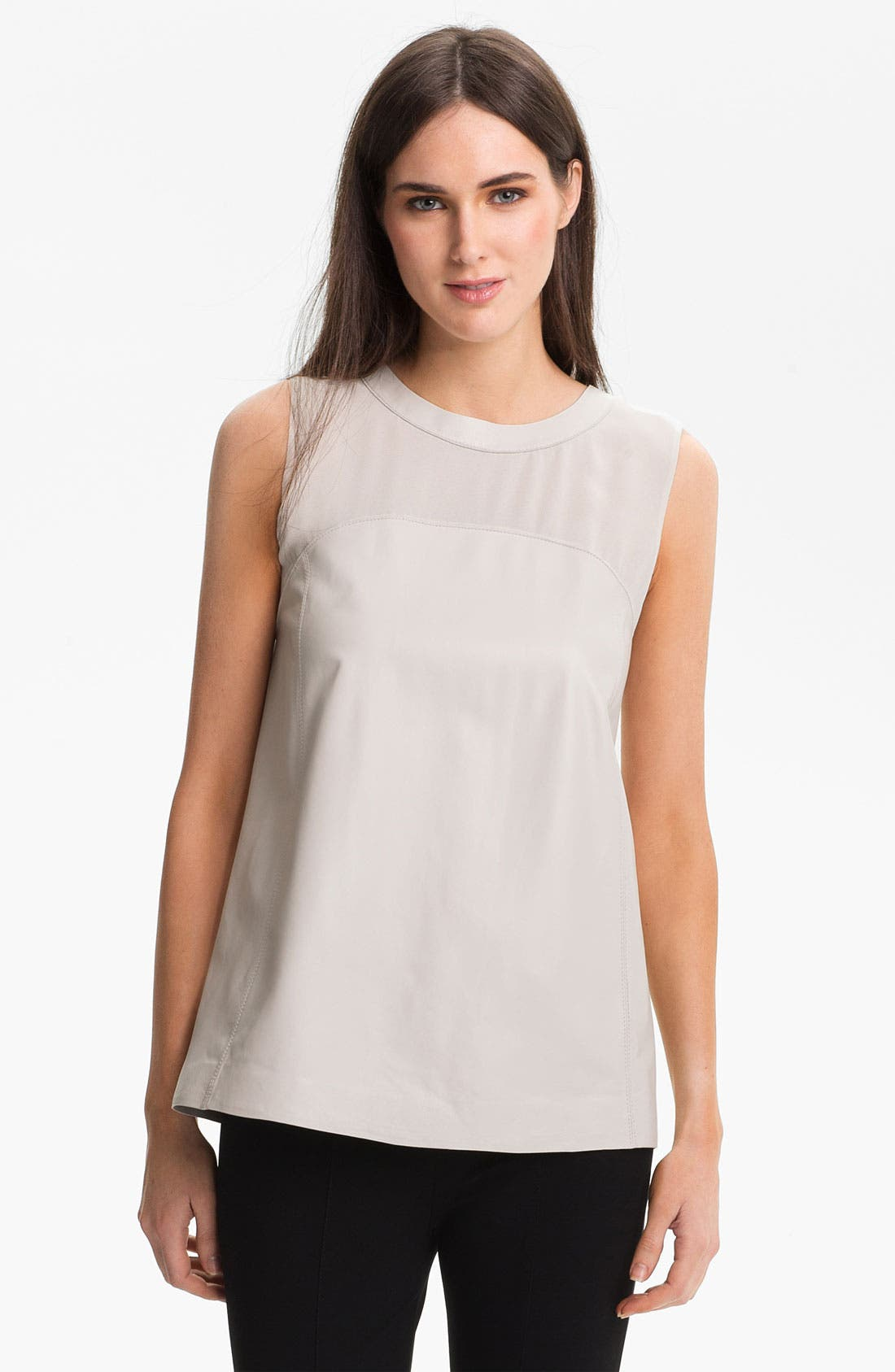 Alternate Image 1 Selected - Lafayette 148 New York Tissue Weight Lambskin Top