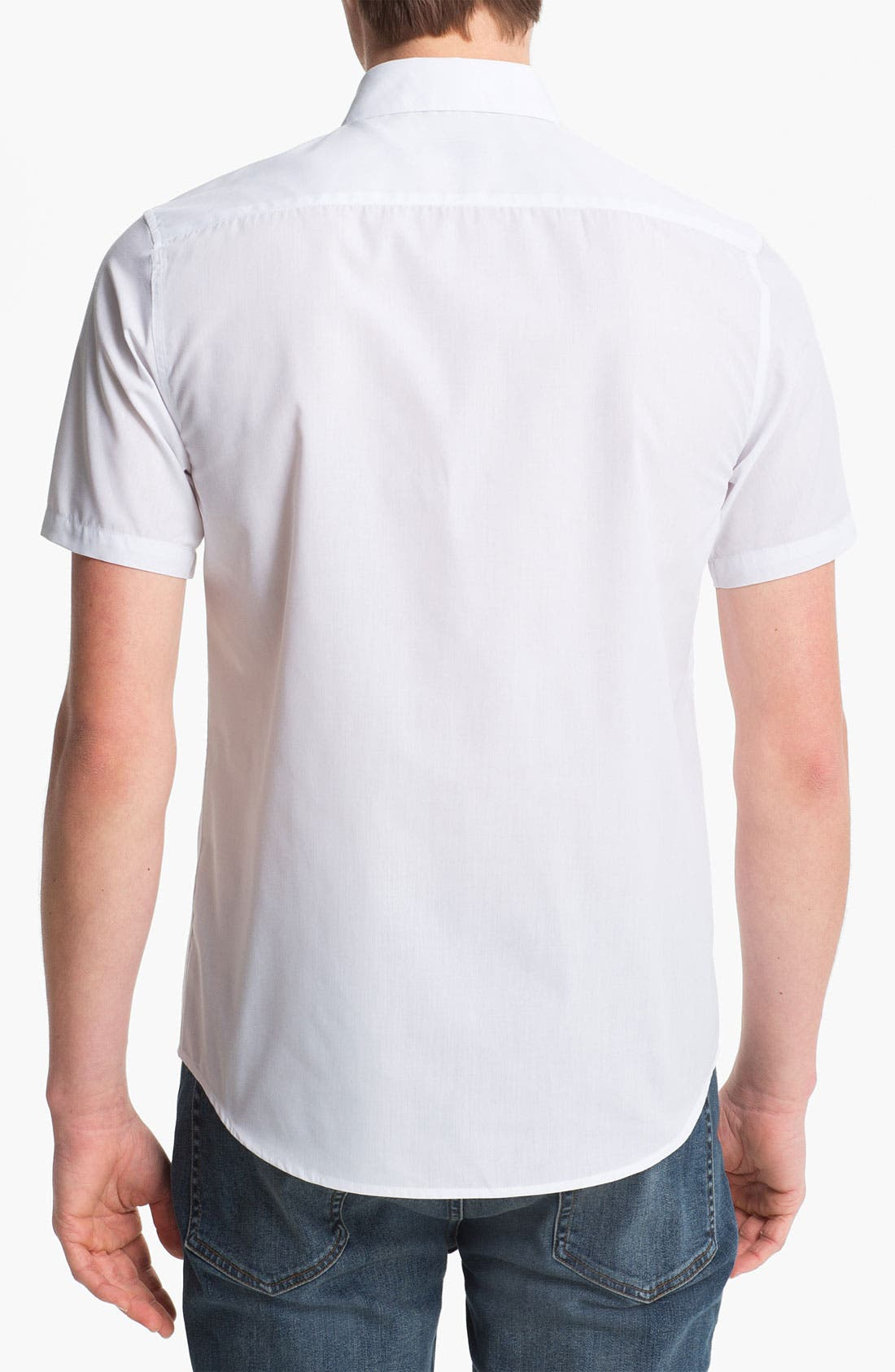 Alternate Image 2  - Topman 'Smart' Short Sleeve Shirt