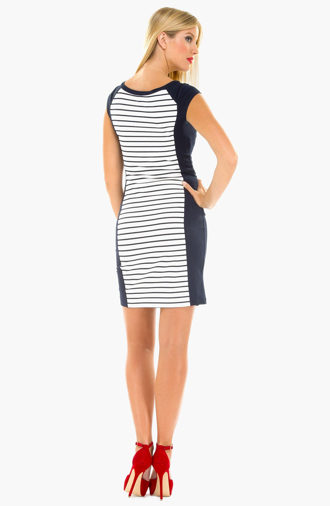 Alternate Image 3  - Olian Stripe Maternity Tank Dress
