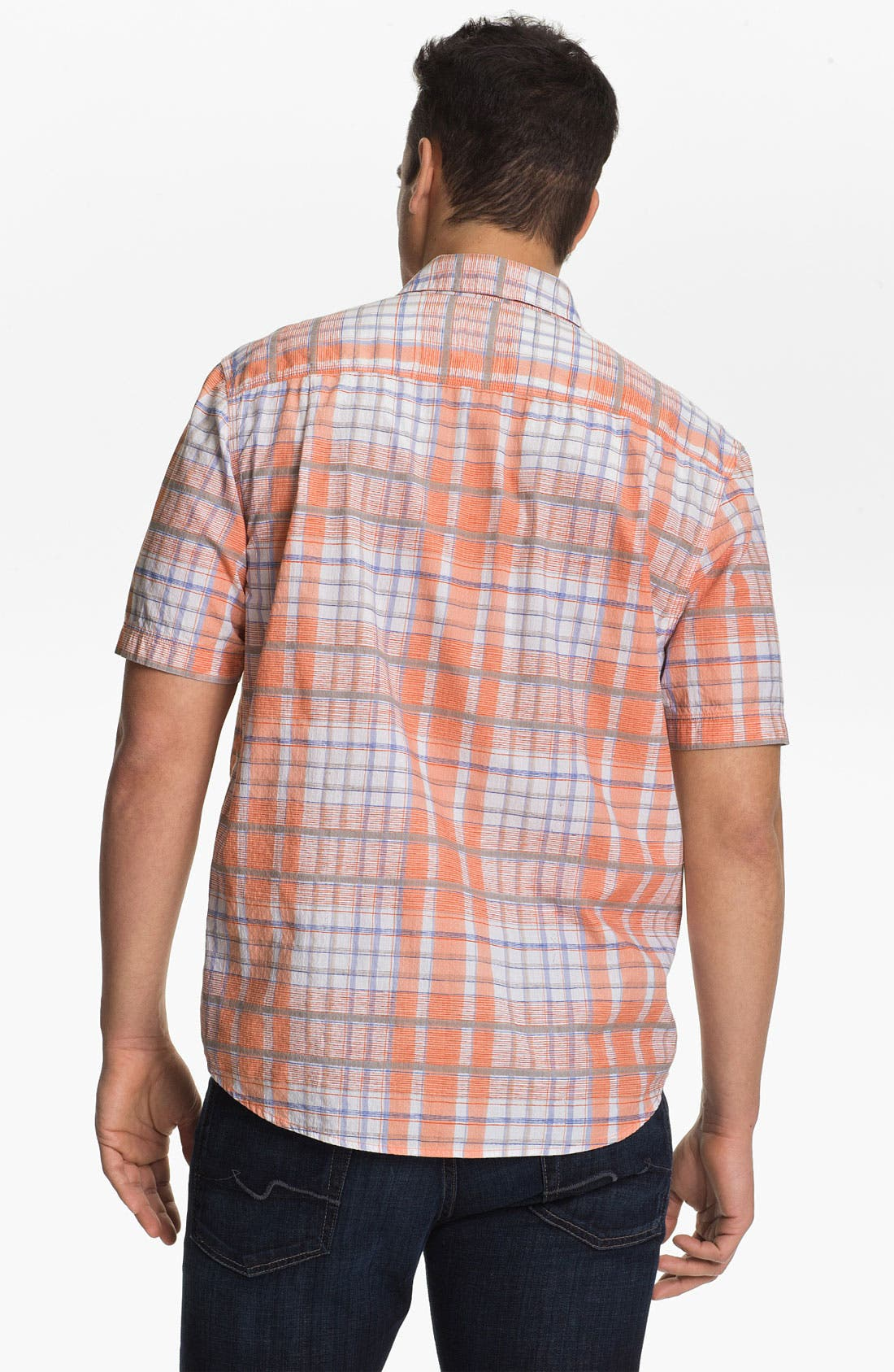 Alternate Image 2  - Tommy Bahama 'Plaidlantic' Regular Fit Short Sleeve Sport Shirt