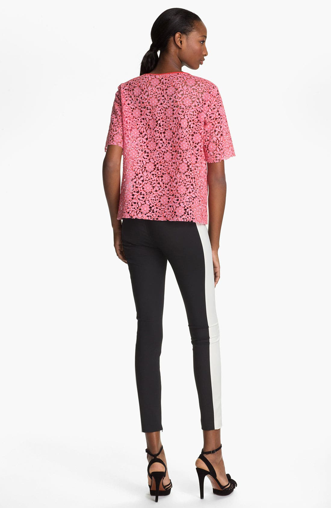 Alternate Image 2  - MSGM Short Sleeve Lace Top