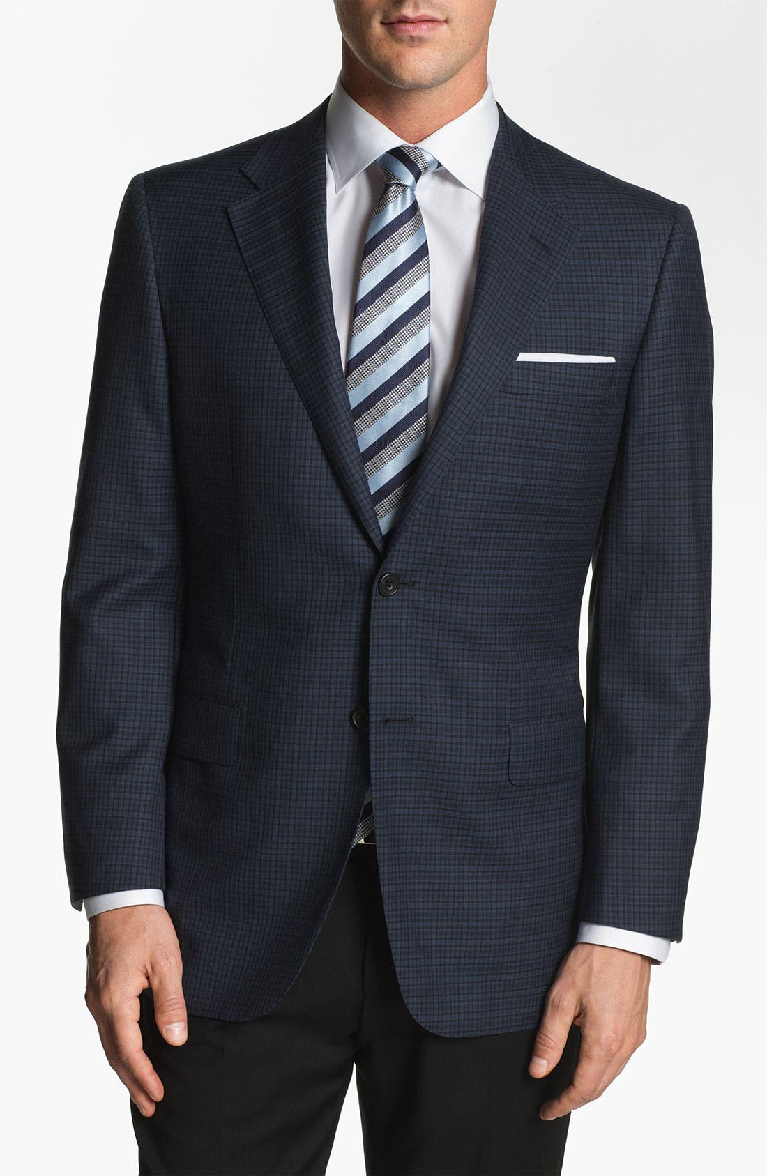 Main Image - Hickey Freeman Plaid Sportcoat