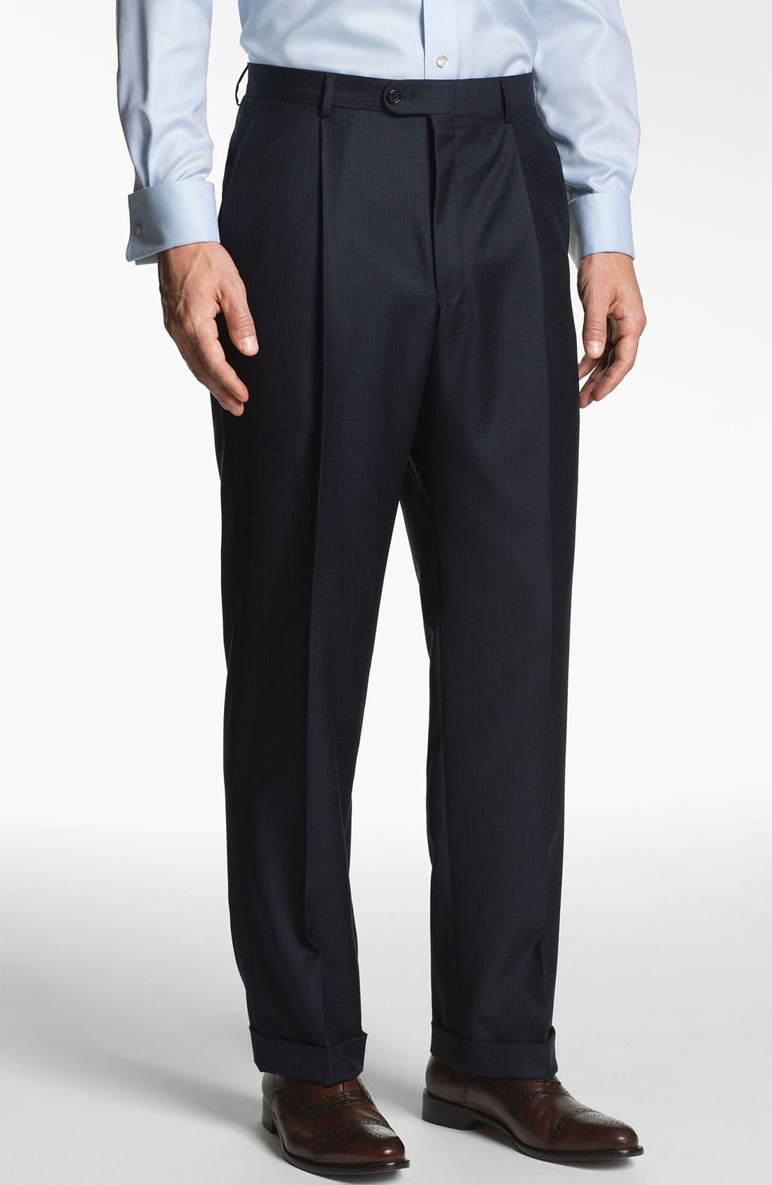 Alternate Image 4  - Hickey Freeman 'Addison' Check Suit