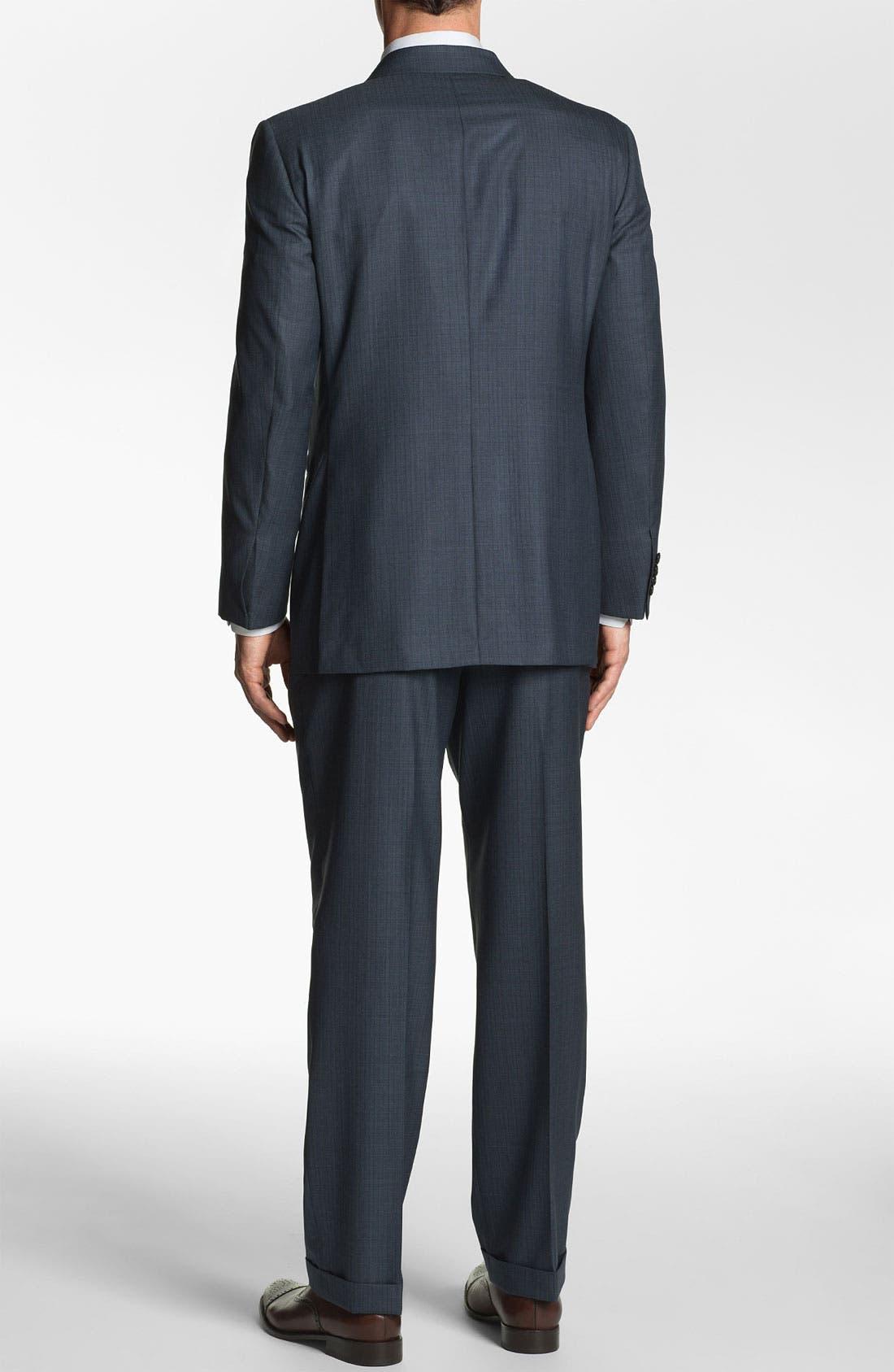 Alternate Image 3  - Hickey Freeman 'Addison' Stripe Suit