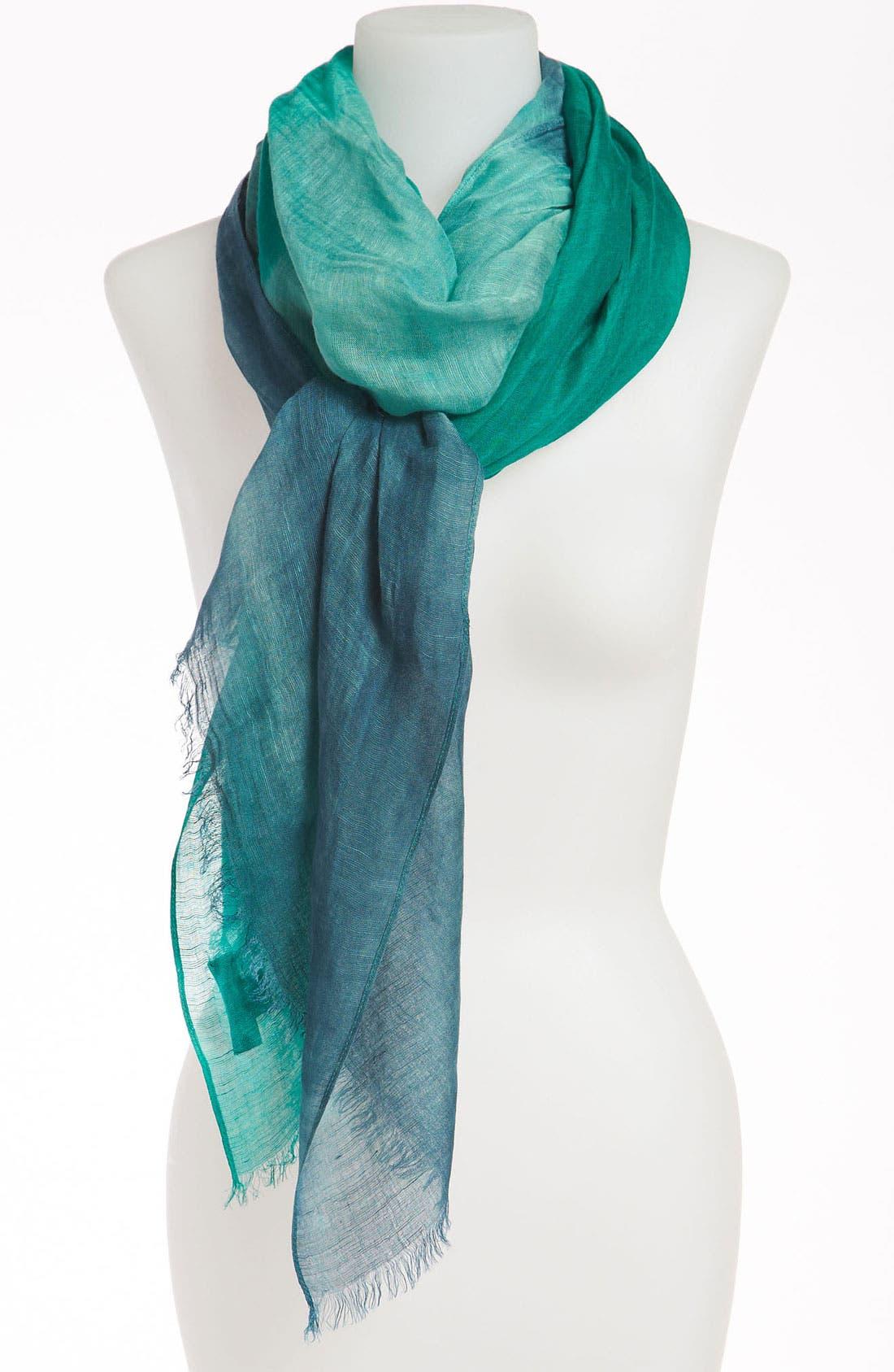 Alternate Image 1 Selected - Sonia Rykiel 'Tricolor' Linen Blend Stole