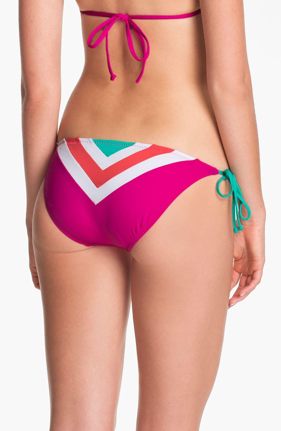 Alternate Image 3  - Becca Chevron Colorblock Bikini Bottoms