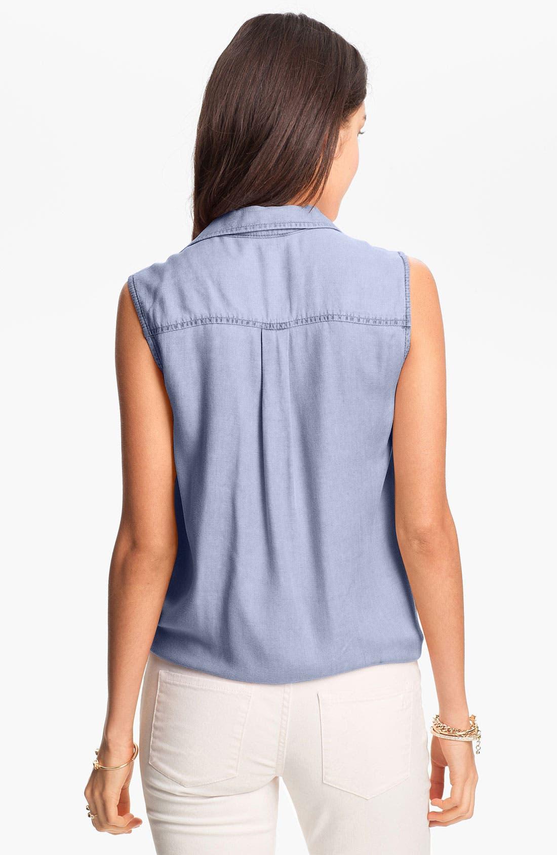 Alternate Image 2  - Rubbish® Sleeveless Workwear Shirt (Juniors)