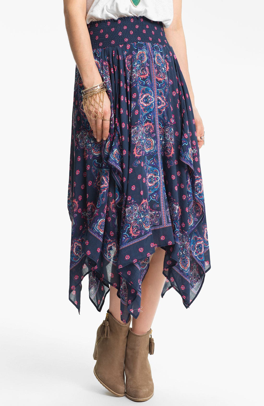 Alternate Image 1 Selected - Free People Bandana Midi Skirt