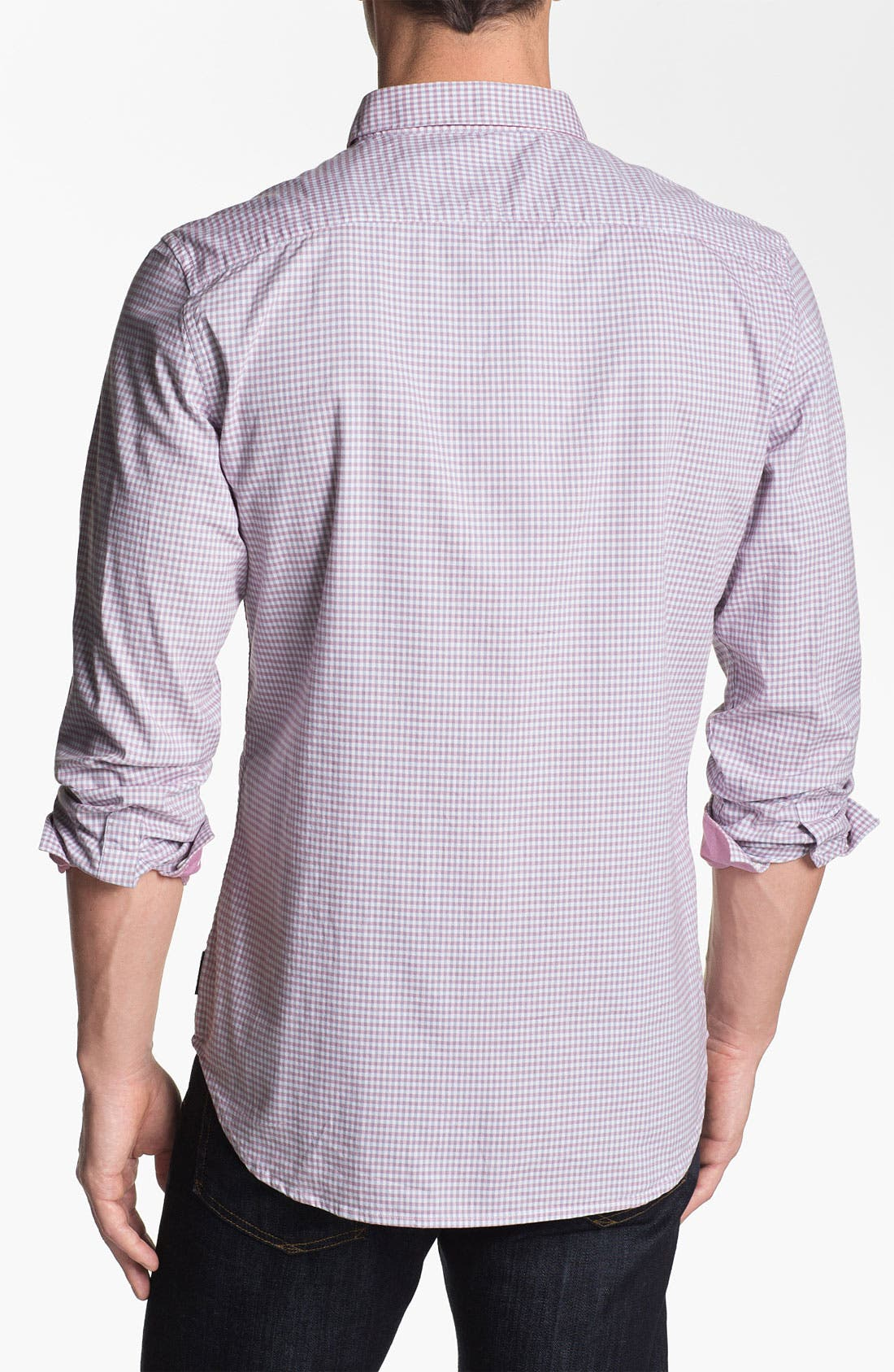 Alternate Image 2  - French Connection 'Wax Job Gingham' Sport Shirt (Online Only)