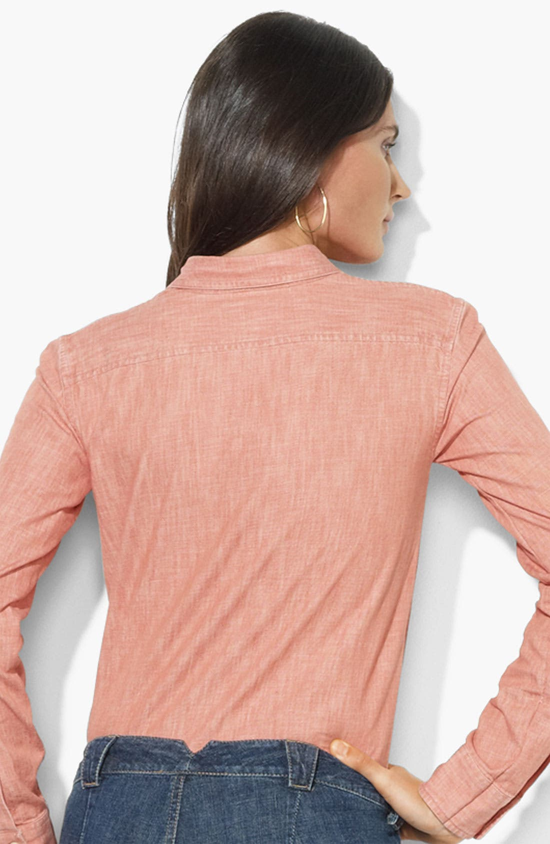 Alternate Image 2  - Lauren Ralph Lauren Two Pocket Shirt
