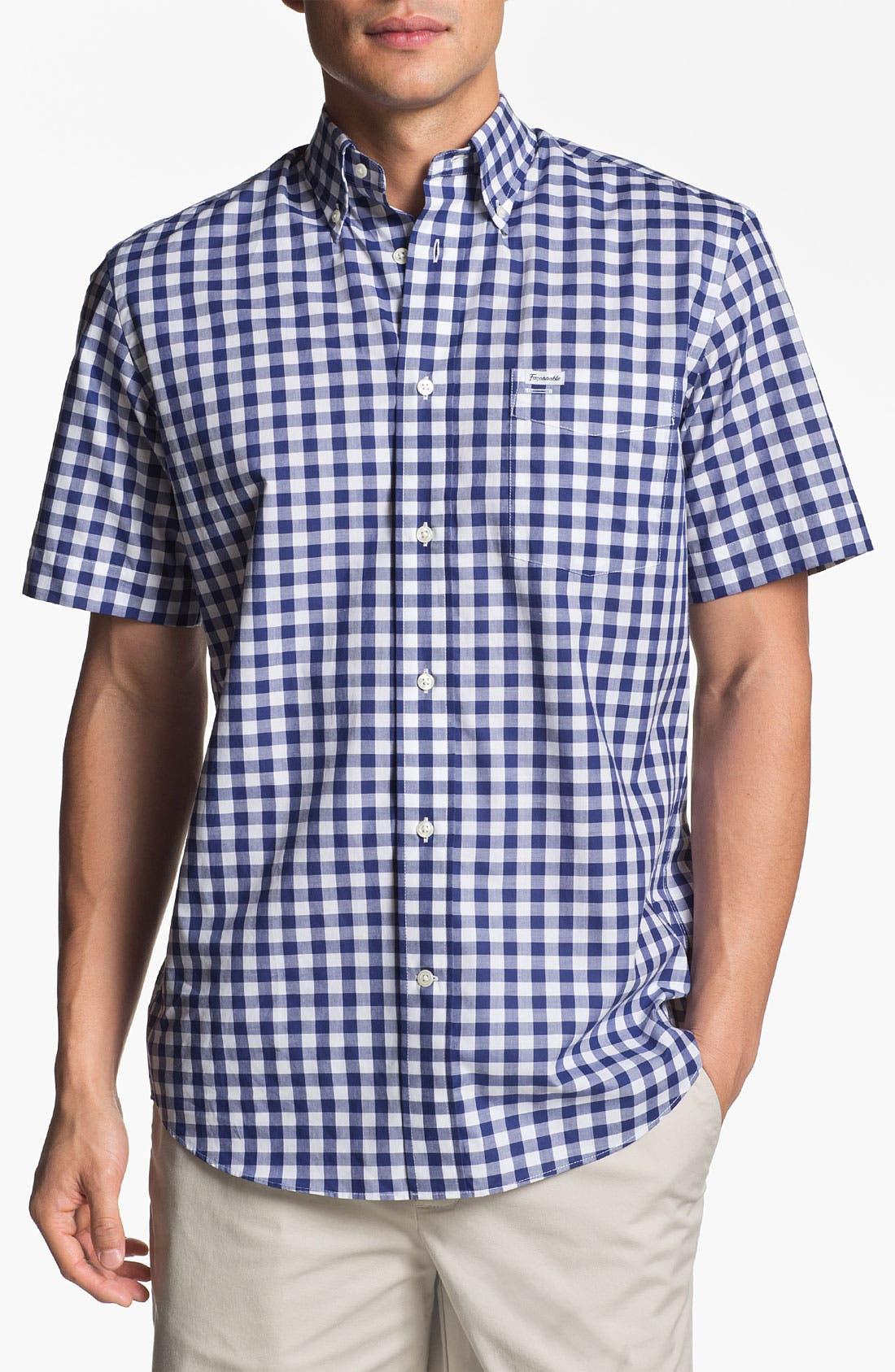 Alternate Image 1 Selected - Façonnable Classique Fit Short Sleeve Sport Shirt