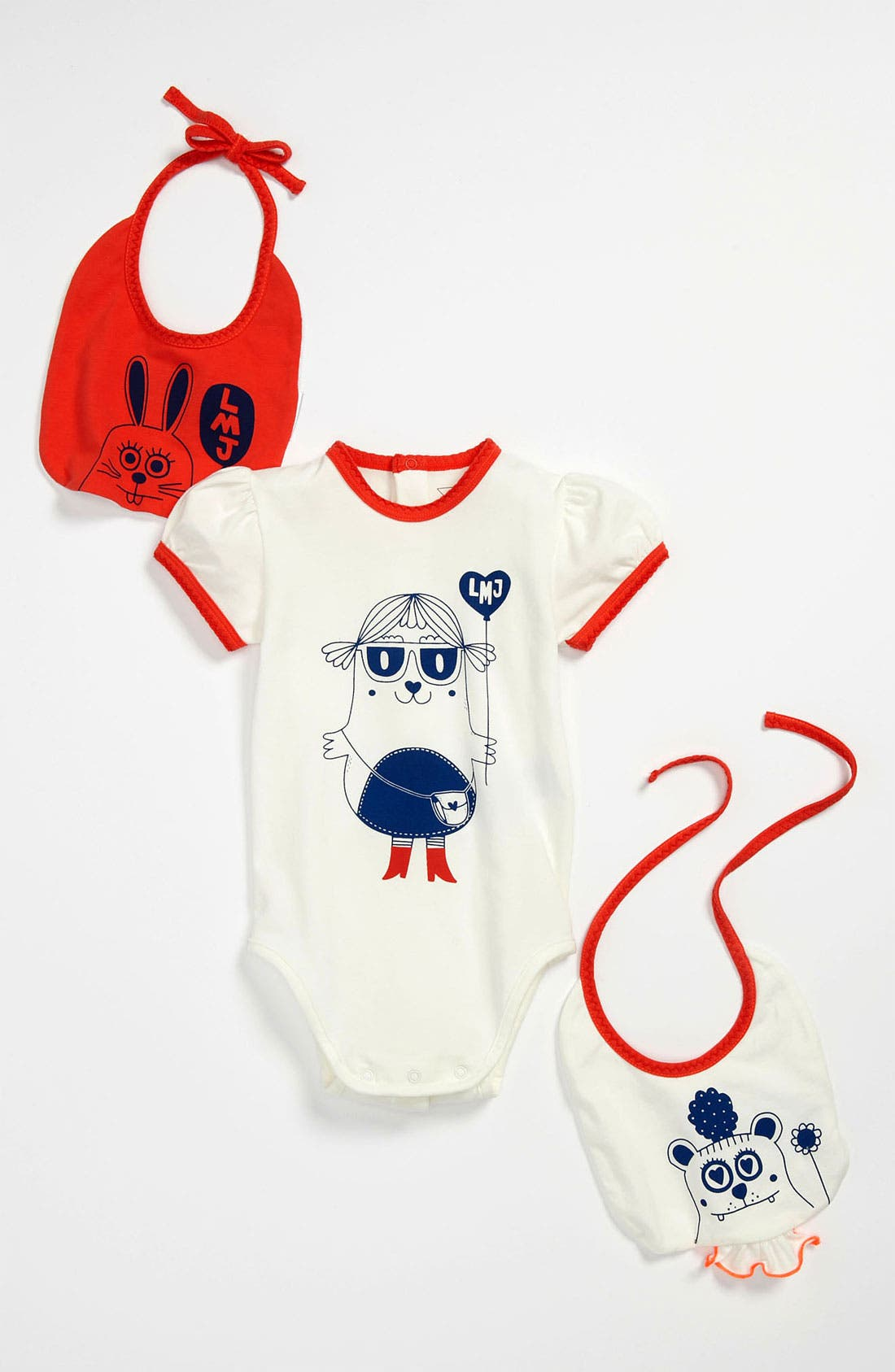 Main Image - LITTLE MARC JACOBS Bodysuit & Bib Set (Baby)
