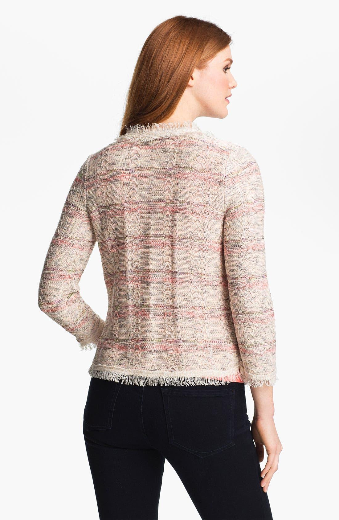 Alternate Image 2  - Nic + Zoe 'Tweedy' Knit Jacket (Plus)