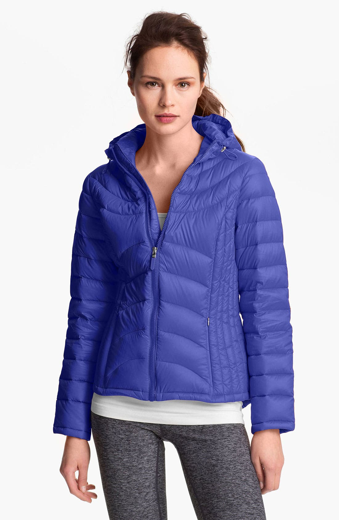 Alternate Image 1 Selected - Calvin Klein Hooded Packable Down Jacket