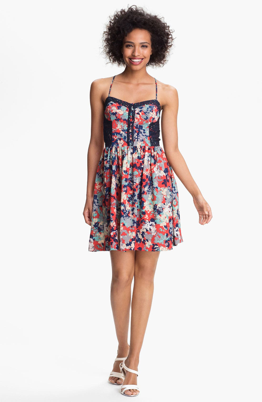 Main Image - Betsey Johnson Floral Fit & Flare Dress