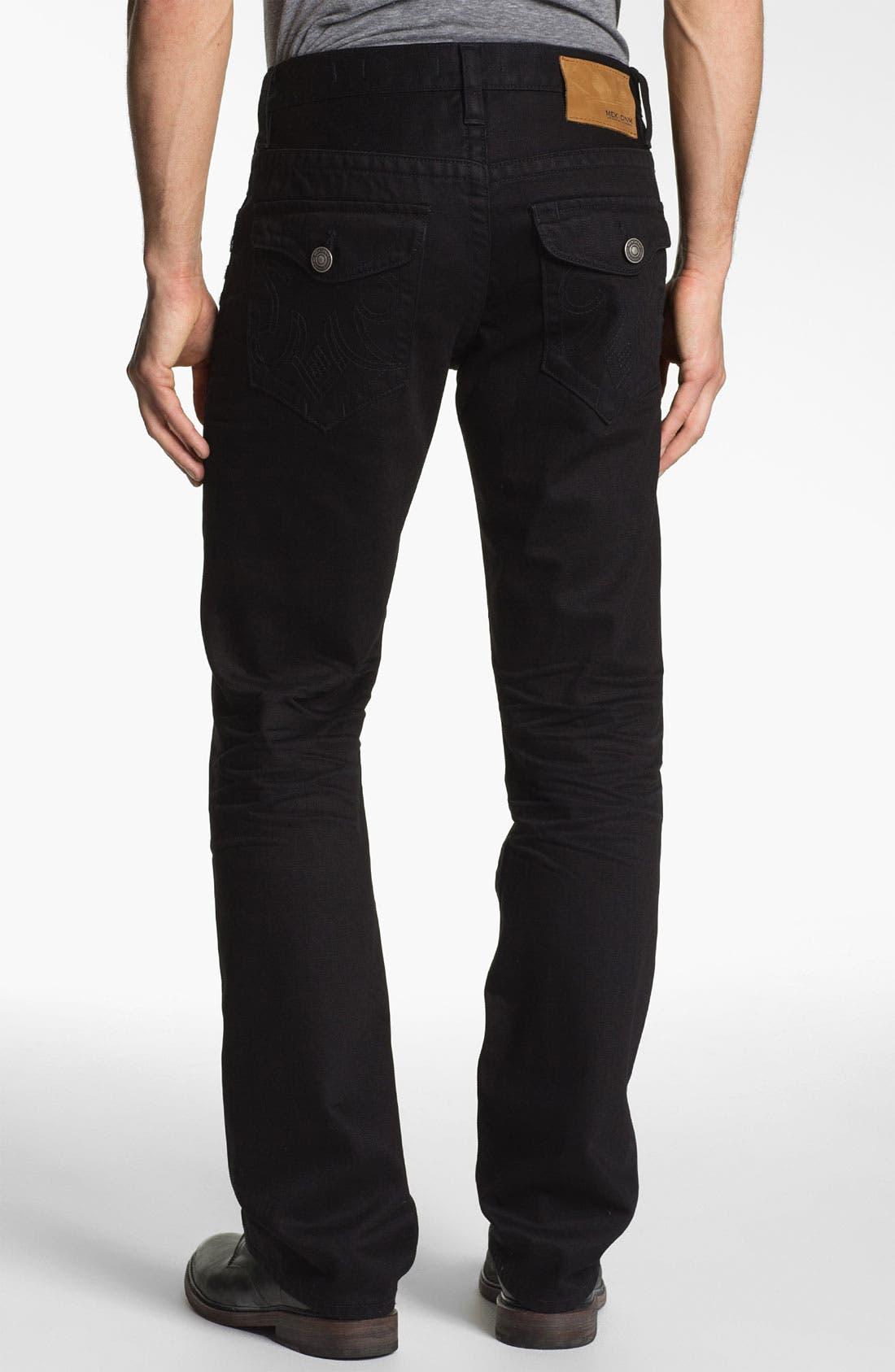Main Image - MEK Denim 'Luther' Straight Leg Jeans (Black Bart)