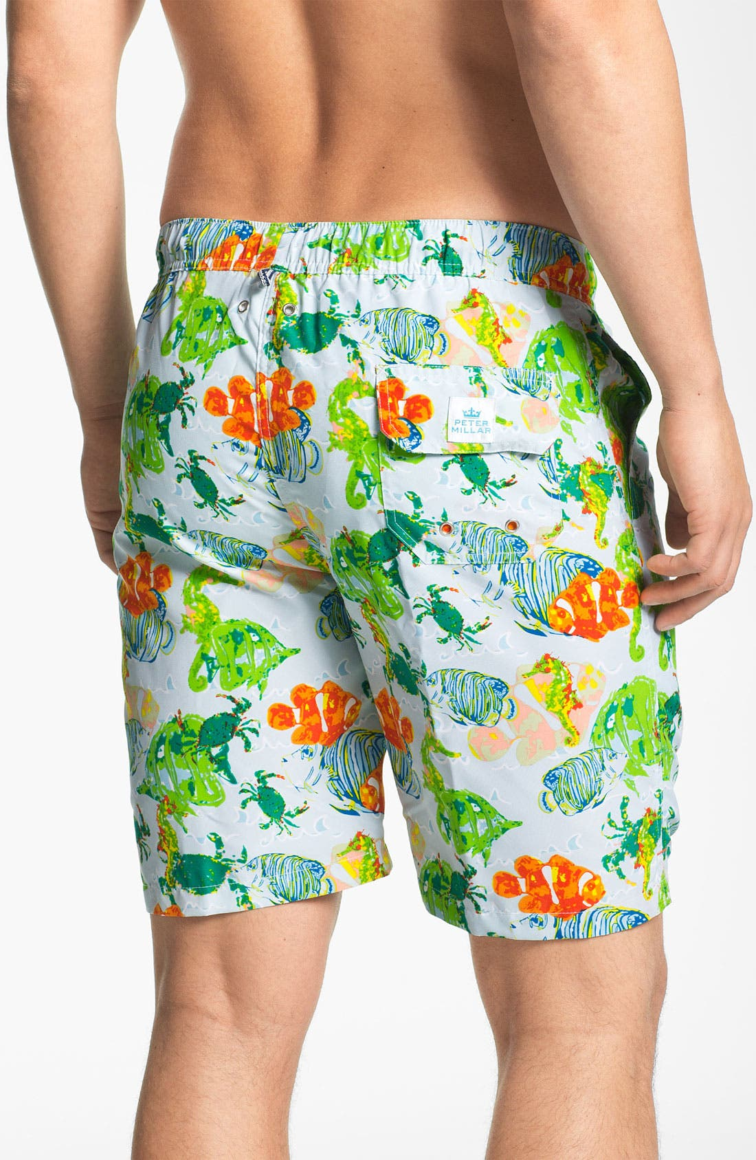Alternate Image 2  - Peter Millar 'Reef Life' Swim Trunks