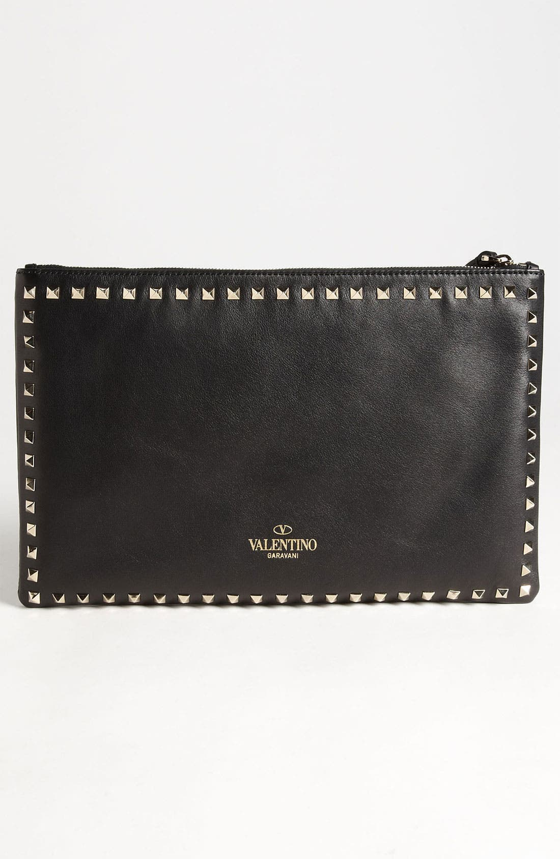 Alternate Image 4  - Valentino 'Rockstud - Flat' Leather Clutch